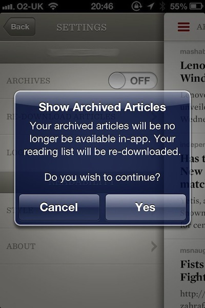 Readability's quirky archives